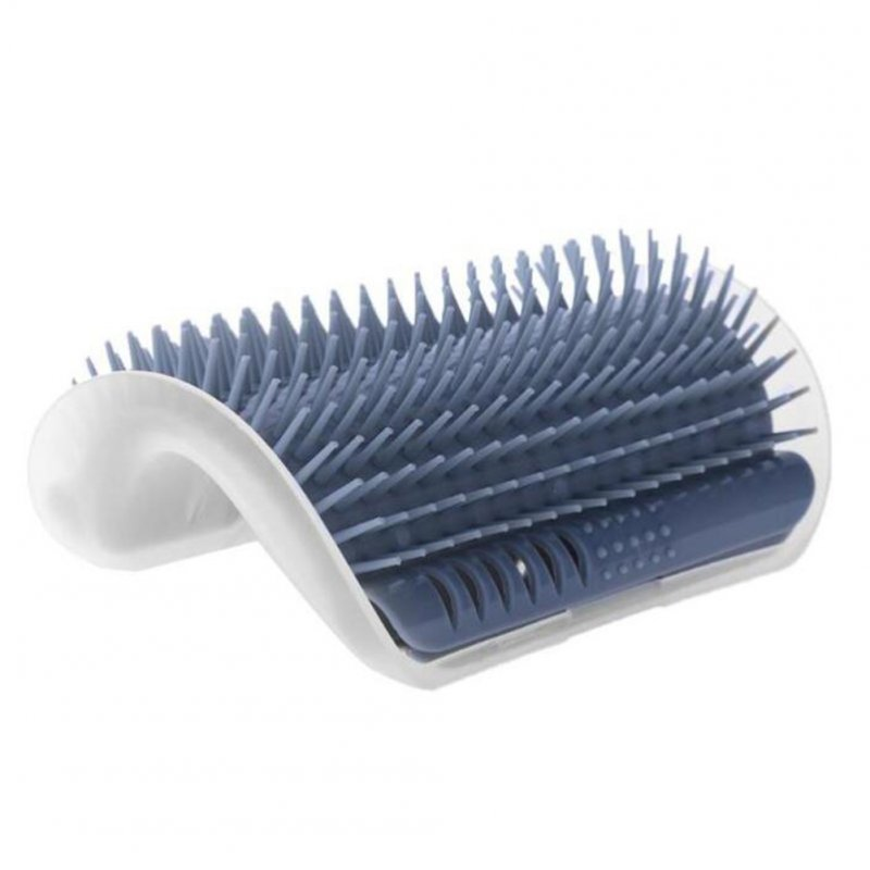 Pet Comb Removable Cat Corner Scratcher Scratching Rubbing Brush Pet Hair Removal Massage Comb Pet Grooming Cats Supplies Gray_None