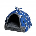 Pet Detachable Sleeping Nest for Small Dog Teddy Poodle Cat Blue dog_S