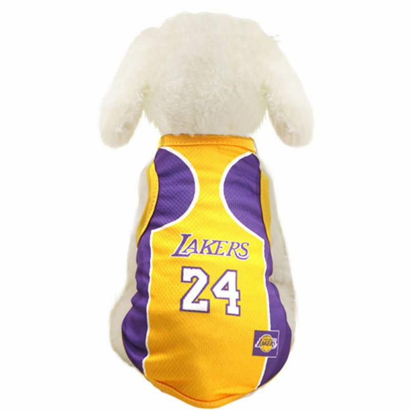 Pet Dog Basketball Game Vest for Puppy Golden Retriever Samo Clothing  purple_L