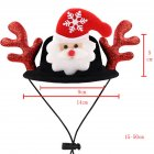 Pet Dog Cat Halloween Christmas Wig Funny Hat Suitable for Medium And Large Dogs Semi-circular hat (black hat + red antler)_M (rope adjustment range 15-50cm)
