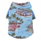 Pet Dog Shirts Clothes Summer Beach Shirt Vest Hawaiian Travel Blouse blue_L