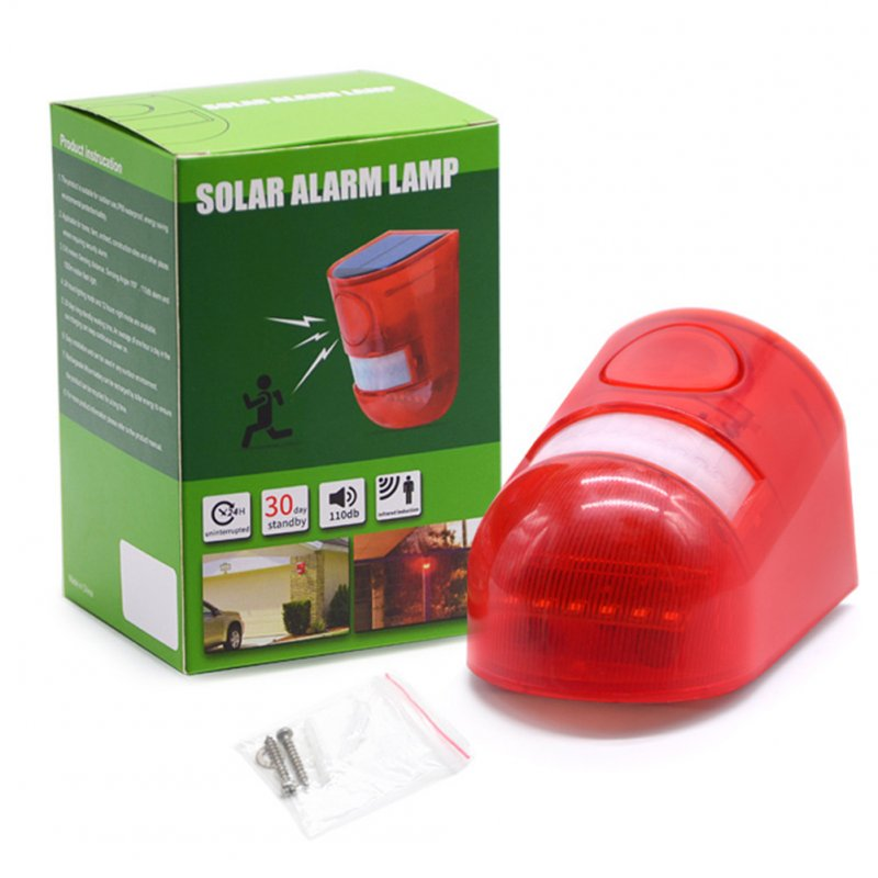 Pet Farm Captive Animals Solar Alarm Lamp Acousto-optic Alarm Lamp Human Body Induction Anti-theft