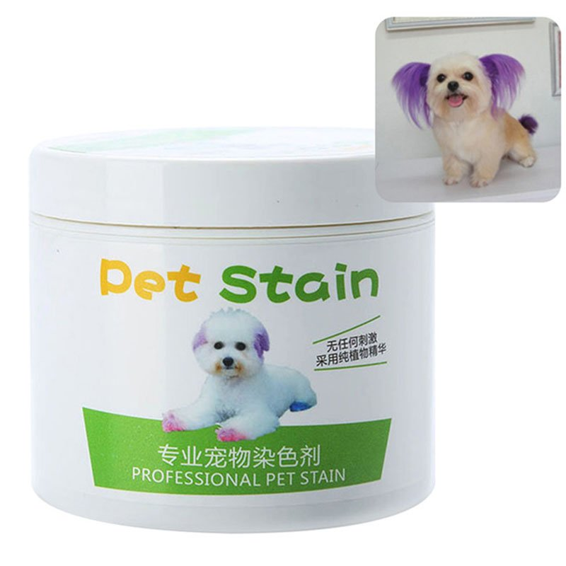 Pet Grooming Hair Color Cream Hairdressing Gel for Dogs Fascinated purple