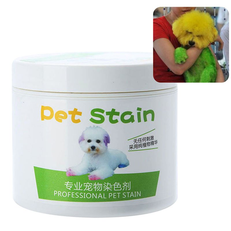 Pet Grooming Hair Color Cream Hairdressing Gel for Dogs yellow
