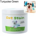 Pet Grooming Hair Color Cream Hairdressing Gel for Dogs Turquoise