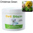 Pet Grooming Hair Color Cream Hairdressing Gel for Dogs Christmas green