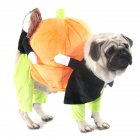 Pet Halloween Cosplay Clothes Funny Pumpkin Dog Costume for Small Dog black_S