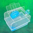 Pet Hamster Cage Luxury House Portable Mice Home Habitat Decoration  blue_L