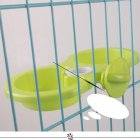 Pet Hanging Double Bowl Drinking Fountain Feeding Bowl for Dogs green_L: 29.5*15*4.5CM