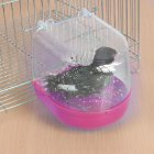 Pet Hanging Water Bath Tub for Small Bird Parrots Cage red