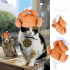 Pet Hat Cartoon Drumstick Shape Dog Teddy Cat Cosplay Headgear Costume Drumstick hat_One size