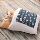 Pet House Winter Warm Sleeping Bag Nest Soft Cushion for Cat Dog Puppy Teddy S (45*30)_blue
