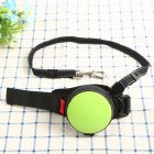 Pet Leashes Hands-free Automatic Shrink Nylon Leash Pets Pull Dog Chains Traction Ropes Green_L