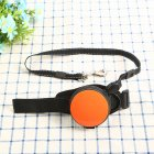 Pet Leashes Hands-free Automatic Shrink Nylon Leash Pets Pull Dog Chains Traction Ropes orange_L