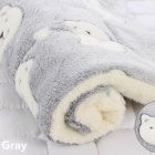 Pet Mat Thickening Warm Autumn Winter Cat Dog Blanket Anti-slip Cushion Grey bear head_3# 49*32cm
