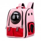 Pet Oxford Cloth Backpack Cat Dog Breathable Bag for Outdoor Travel 38*35*29cm_Pink