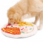 Pet Pizza Shape Snuffle  Mat For Dogs Nosework Feeding Blanket Puzzle Toy apricot_50*50*5cm
