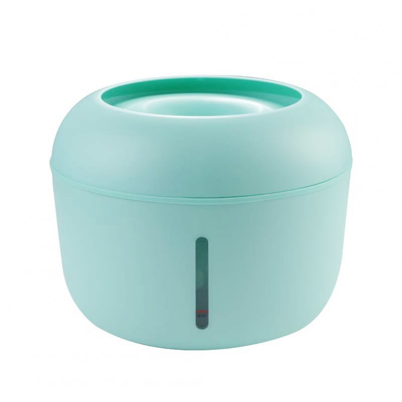 Pet Water Dispenser Circulating Water Source Spring Type Non-wet Mouth Water Basin Cat and Dog Bowl green