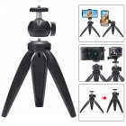 Phone Tripod Swivel Ball Head Tripod Mount for Photography Video Shooting black