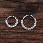 Piercing Hoop Earring Small Hoop Nose Septum Ring Piercing Silver Ear Bone Ring Silver_8mm