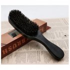 Pig Bristle Wave Brush Hair Comb Hair Beard Comb Large Curved Comb  Black handle_Normal specifications