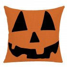 Pillow Case Halloween Pumpkin Trick or Treat Letters Decoration Flax Sofa Cushion Pillow Case Cover C_45*45cm