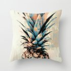 Pineapple Printing Polyester Peach Skin Throw Pillow Cover