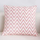 Pink Embroidery Throw Pillow Cover for Sofa Decoration C embroidery curved wavy strips - pink_45*45cm individual pillowcase