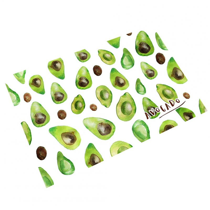 Placemat Tableware Mat Fruit Print Waterproof Insulation Decorative Dining Bowl Pad 45*30cm Avocado_45X30cm