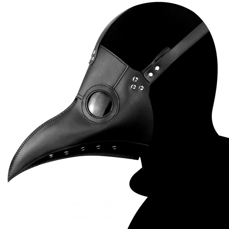 Plague Bird Mouth Doctor Mask Cos Halloween Holiday Party Dance Props black