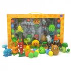 Plants vs. Zombies Toy Double Head Peashooter Clover Gift Box Set Toy 686-35 [Plastic] 8 plants + 2 zombies