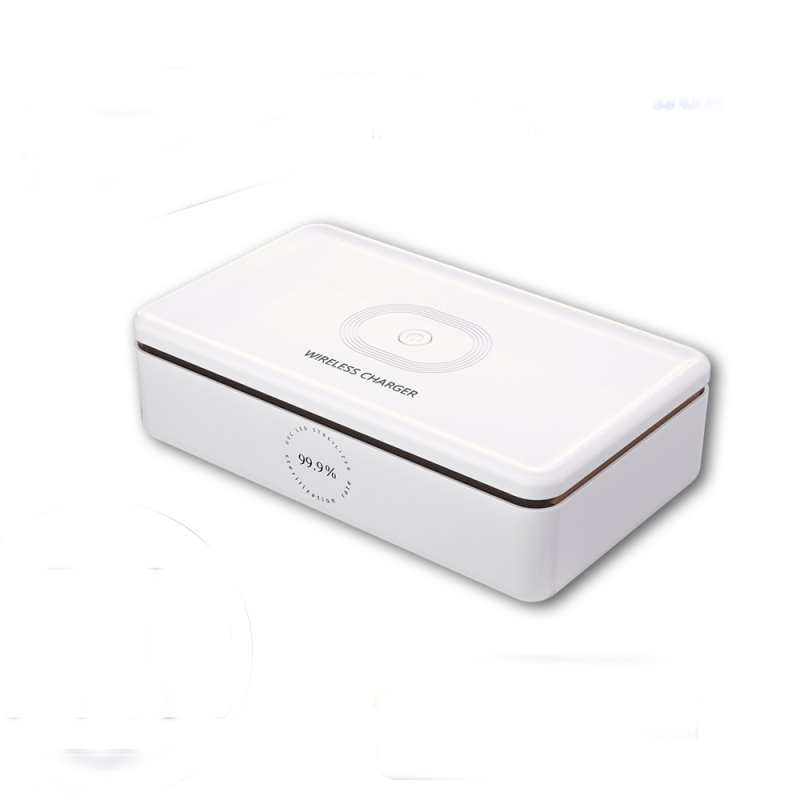 Plastic Multifunctional Wireless Charger Mobile Phone UV Sterilization Disinfection Set white