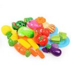Plastic Simulation Fruit and Vegetable Kitchen Children's Toy Fruit Shop Decoration Cutle 20 sets -1