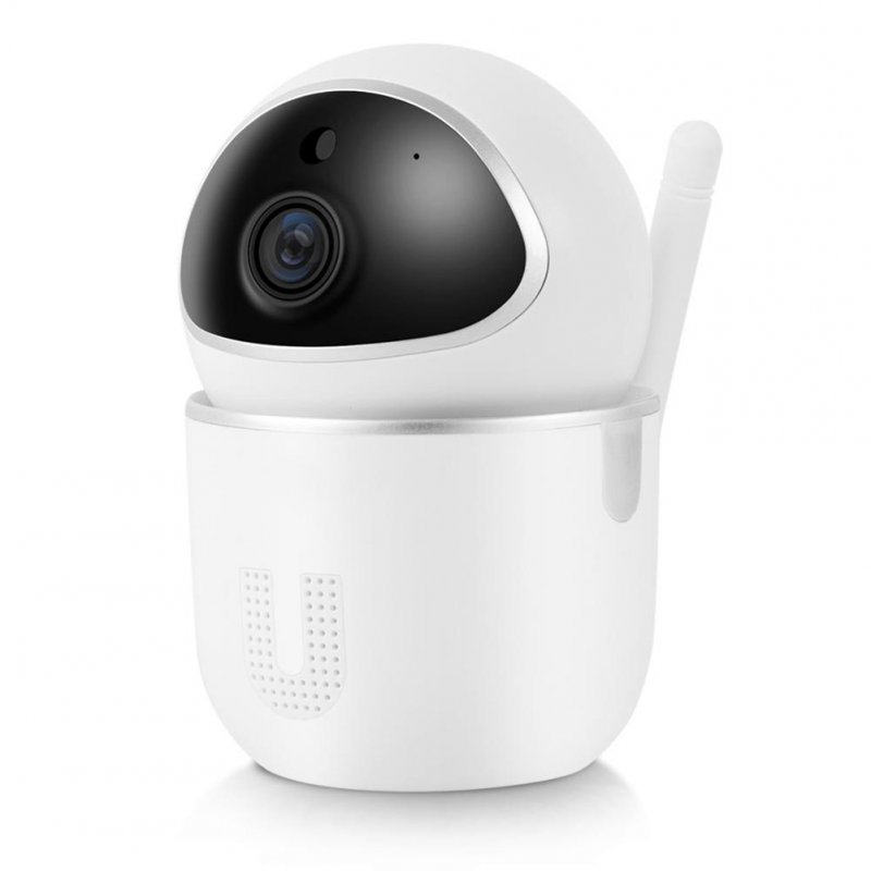 Plastic Wireless Camera WIFI Smartphone Remote Control Smart Home Security Surveillance Monitor white