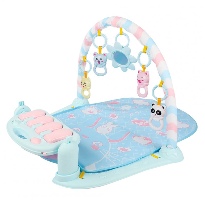 Play Mat Baby Carpet Music Puzzle Mat With Piano Keyboard Educational Rack Toys Infant Fitness Crawling Mat blue