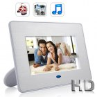 Play a slide show of your photos with your favorite music playing in the background on this 7 inch crystal clear LCD screen digital photo frame