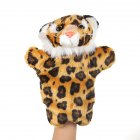 Plush Doll Interactive Animal Plush Hand Puppets for Storytelling Teaching Parent-child Yellow Leopard Tiger