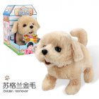 Plush  Doll  Toy  Electric Cute Simulation Dog Walking Smart Dog Animal Toy For Children Golden Retriever