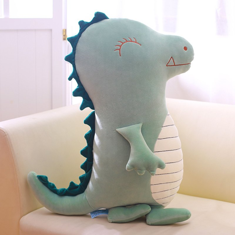 Plush Toy Dinosaur Pillow Doll Sleeping Pillow Strip Cute Puppet Tyrannosaurus King Large Birthday Gift green
