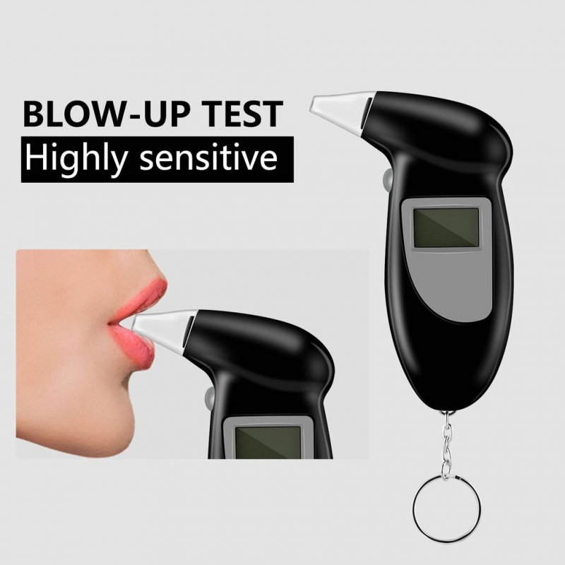 Pocket LCD Digital Alcohol Breath Analyzer Breathalyzer Tester Detector Black black