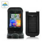 Pocket sized carrying case solar charger for your cellphone  camera  MP3 player and USB devices