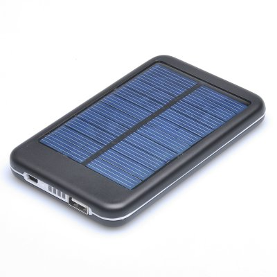 Solar Panel Powered Battery USB Charger