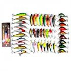 Popular 43×Mixed 6Models Minnow Lure Crankbait Tackle Assorted Fishing Lures Kit