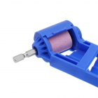 Portable 2-12.5mm Drill Bit Sharpener Corundum Grinding Wheel Powered Tool for Drill Polishing blue