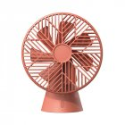 Portable 7 Blades Handheld Small Fan USB Charging Desktop Fan for Home Bedside red_Plug-in version
