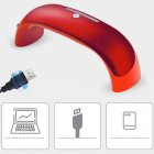 Portable 9w Nail  Dryer  Machine Led Uv Lamp Usb Cable Home Use Nail Art Tools Rainbow light (red)