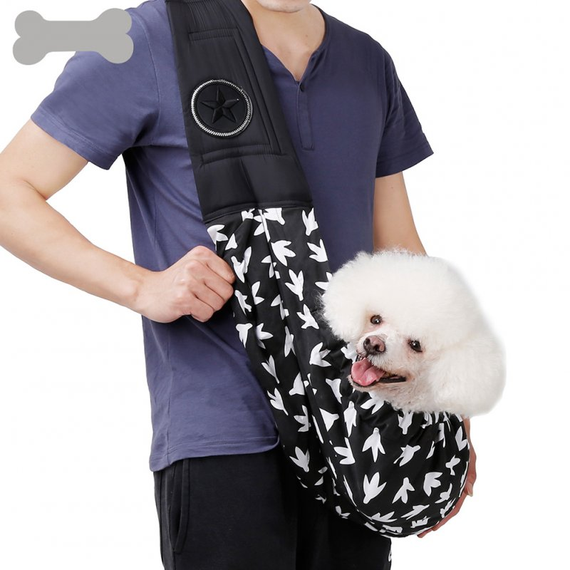 Portable Backpack Single Shoulder Carrier Bag for Pet Cat Dog Teddy Outdoor Hiking Travel black_56*28cm