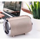 Portable Bluetooth Speaker S518 Straps Support FM/TF Card / AUX / Mobile Phone Call Audio Notebook Speaker Gold