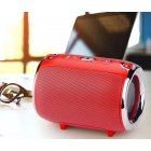 Portable Bluetooth Speaker S518 Straps Support FM/TF Card / AUX / Mobile Phone Call Audio Notebook Speaker red