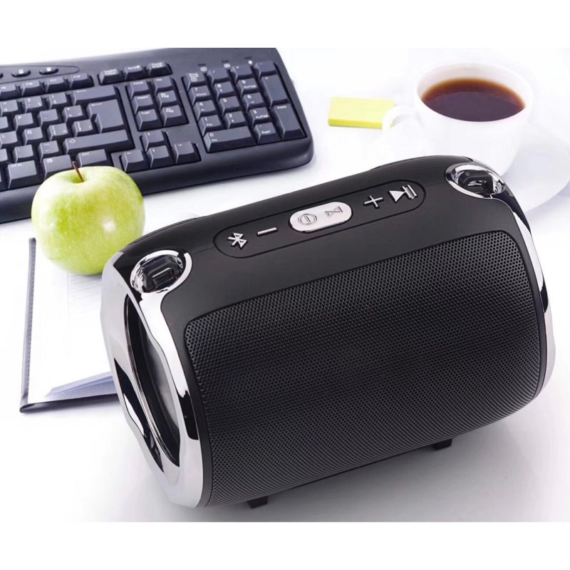 Portable Bluetooth Speaker S518 Straps Support FM/TF Card / AUX / Mobile Phone Call Audio Notebook Speaker black